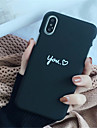 Case For Apple iPhone X / iPhone 7 Plus Pattern Back Cover Word / Phrase Hard PC for iPhone X / iPhone 8 Plus / iPhone 8