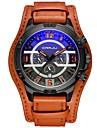 Муж. Армейские часы Японский 30 m Защита от влаги Секундомер Творчество PU Группа Аналоговый Мода Черный / Синий / Красный - Красный Светло-синий Белый / Бежевый Два года Срок службы батареи