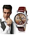 สำหรับผู้ชาย นาฬิกาข้อมือ นาฬิกาอิเล็กทรอนิกส์ (Quartz) PU Leather ดำ 30 m โครโนกราฟ ระบบอนาล็อก คลาสสิก ไม่เป็นทางการ - สีน้ำตาล ฟ้า ดำ / ขาว หนึ่งปี อายุการใช้งานแบตเตอรี่ / สแตนเลส / SSUO LR626