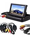 ziqiao 3 in 1 langaton pysäköinti kamera seurata videojärjestelmä taitto taitettava auton valvonta takana kameran langaton pakki