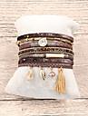 Women\'s Tassel Leather Bracelet Pendant Bracelet - Leather Bohemian, Fashion, Boho Bracelet Brown / Red / Green For Gift Daily