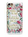 Case For Apple iPhone X / iPhone 7 Ultra-thin / Pattern / Lovely Back Cover Word / Phrase / Flower Soft TPU for iPhone X / iPhone 8 Plus / iPhone 8