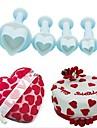 Bakeware eszközök Műanyag Kreatív / DIY Keksz / Csokoládé / Cake Cake Cutter / Sütő és tészta eszközök 4db