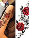 3 pcs Tetovací nálepky dočasné tetování Květinová řada / Romantická série Tělesné Arts Tělo / rameno / Noha