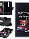 Кейс для Назначение Nokia Nokia 6 2018 Nokia 5 Бумажник для карт Кошелек со стендом Флип С узором Чехол Слова / выражения Твердый Кожа PU