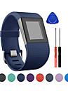 시계 밴드 용 Fitbit Surge 핏빗 클래식 버클 실리콘 손목 스트랩