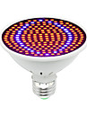 1pc 30W 1600lm E26 / E27 Ampoule en croissance 200 Perles LED SMD 5730 Decorative Bleu Rouge 85-265V