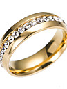 Cubic Zirconia Band Ring Eternity Ring Ανοξείδωτος κυρίες Κλασσικό Μοντέρνα Μοδάτο Δαχτυλίδι Κοσμήματα Χρυσό / Ασημί Για Γάμου Αρραβώνας Δώρο Καθημερινά Μασκάρεμα Πάρτι Αρραβώνων 6 / 7 / 8 / 9