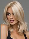 Synthetische pruiken Golvend Blond Blond Synthetisch haar 20 inch(es) Dames Hittebestendig / Middenscheiding Blond Pruik Gemiddelde Lengte