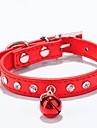 Σκυλιά / Γάτες / Μικρά τριχωτά κατοικίδια ζώα Κολάρα / Περιλαίμια σκύλων για εκπαίδευση Mini / Περπάτημα / Προσαρμόσιμη / Τηλεσκοπικό Ψηφιδωτό Συνθετικό δέρμα / Πολυουρεθάνη Δέρμα Κόκκινο / Μπλε / Ροζ