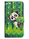 Etui Til Apple iPhone X / iPhone 8 Plus Pung / Kortholder / Med stativ Fuldt etui Panda Hårdt PU Læder for iPhone X / iPhone 8 Plus / iPhone 8
