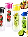 800ml Cycling Sport Bottle Fruit Infuser Water Lemon Cup Juice Bicycle BPA Detox Flip Lid
