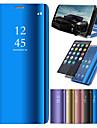 Funda Para Samsung Galaxy A8 2018 / A6 (2018) con Soporte / Cromado / Espejo Funda de Cuerpo Entero Un Color Dura Cuero de PU para A6 (2018) / A6+ (2018) / A3 (2017)