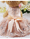 Rodents / Dogs / Cats Dress Dog Clothes Crystal / Rhinestone Silver / Pink Silk Costume For Pets Female Party / Evening / Ordinary