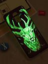 Capinha Para Samsung Galaxy iPhone X / iPhone 8 Plus / J6 Brilha no Escuro / IMD / Estampada Capa traseira Animal Macia TPU para J8 / J7 (2017) / J7 (2016)