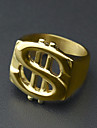 Men\'s Stylish Ring Steel Stainless Dollars European Trendy Hip-Hop Ring Jewelry Gold For Street Holiday 9 / 10 / 11 / 12