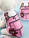Soft Cotton Dog Vest False Straps Pet Clothes Cute Cartoon Puppy Costume