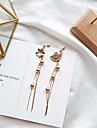 Γυναικεία Ακατάλληλο Κρίκοι Σκουλαρίκια Λουλούδι κυρίες Etnic Κομψό Κοσμήματα Χρυσό Για Καθημερινά Ημερομηνία 1 Pair