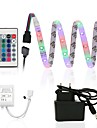 ZDM 2.5m Waterproof 150 x 2835 RGB LED Strips Light Flexible and IR 24Key Remote Control with 12V1A Power AC100-240V