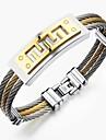 Erkek Şık Bileklik Titanyum Çelik Yaratıcı Moda Bilezikler Mücevher Altın / Gümüş Uyumluluk Parti Günlük