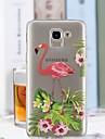 Capinha Para Samsung Galaxy J6 / J4 Transparente / Estampada Capa traseira Flamingo Macia TPU para J7 (2017) / J6 / J5 (2017)