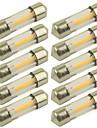 10pcs 31 mm Autó Izzók 1 W COB 100 lm 1 LED Irányjelző Kompatibilitás