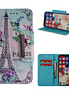 Case For Apple iPhone X / iPhone 8 Plus Wallet / Card Holder / with Stand Full Body Cases Eiffel Tower Hard PU Leather for iPhone X / iPhone 8 Plus / iPhone 8