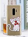 غطاء من أجل Samsung Galaxy S9 Plus / S9 شفاف / نموذج غطاء خلفي قطة ناعم TPU إلى S9 / S9 Plus / S8 Plus