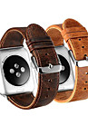 Pulseiras de Relogio para Apple Watch Series 4/3/2/1 Apple Pulseira de Couro Couro / Couro Legitimo Tira de Pulso