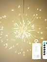1pc 100leds llevo luces de cadena de fuegos artificiales 20 cm luces de starburst de control remoto forma de ramo plegable luz cadena de cadena led de navidad