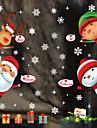 Ablakfólia és matricák Dekoráció Karácsony Karakter PVC Ablak matrica / Imádni való / Vicces
