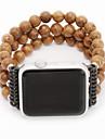 Watch kapela pro Apple Watch Series 4/3/2/1 Apple Design šperků Dřevo Poutko na zápěstí