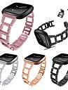 Watch Band for Fitbit Versa Fitbit Modern Buckle / Jewelry Design Metal Wrist Strap