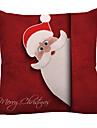 Povlak na polštář Vánoce / Prázdninový Polyester obdélníkový Párty / Zábavné Vánoční dekorace
