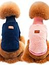 Chiens / Chats Sweatshirt Vetements pour Chien Couleur Pleine Bleu / Rose / Kaki 100% Molleton / Coton Costume Pour les animaux domestiques Unisexe Sports & Activites d\'Exterieur / Decontract