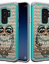 Etui Käyttötarkoitus Samsung Galaxy S9 Plus / S8 Plus Iskunkestävä / Paljetti / Kuvio Takakuori Pöllö / Tekojalokivi Kova PC varten S9 / S9 Plus / S8 Plus