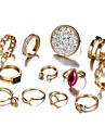 Γυναικεία Κρυστάλλινο Πεπαλαιωμένο Στυλ Δαχτυλίδι για τη μέση των δαχτύλων Σετ δαχτυλιδιών Κράμα Κρεμαστό Μοντέρνο κυρίες Μποέμ Πανκ Μοδάτο Δαχτυλίδι Κοσμήματα Χρυσό Για Βραδινό Πάρτυ Μασκάρεμα 12pcs