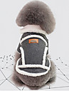 Dogs Jacket Dog Clothes British / Vintage Gray / Khaki Cotton Costume For Pets Unisex Keep Warm / Windproof
