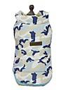 สุนัข เสื้อกั๊ก Dog Clothes Camouflage Color คาร์แรคเตอร์ คำขวัญ สีเหลือง ฟ้า สีชมพู Terylene เครื่องแต่งกาย สำหรับ คนกล้าหารหัวดื้อ ชิบะอินุ ปั๊ก ตก ฤดูหนาว ทุกเพศ สไตล์หวาน ง่าย / ประจำวัน