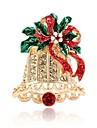여성용 3D 브로치 - 벨 단순한 브로치 골드 제품 크리스마스