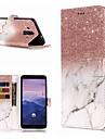 Etui Käyttötarkoitus Huawei Mate 10 lite / Mate 9 Pro Lomapkko / Korttikotelo / Tuella Suojakuori Marble Kova PU-nahka varten Mate 10 / Mate 10 pro / Mate 10 lite