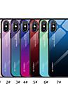 Custodia Per Apple iPhone XR / iPhone XS Max A specchio / Fantasia / disegno Per retro Colore graduale e sfumato Resistente Vetro temperato per iPhone XS / iPhone XR / iPhone XS Max
