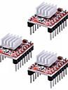 a4988 stegstick stegmotor drivenhet kylfläns för 3D-skrivare repack (pack med 3 st)