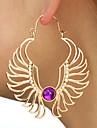 Γυναικεία Συνθετικό Αμέθυστο Κλασσικό θαυμαστής σκουλαρίκια Σκουλαρίκια κυρίες Καλλιτεχνικό Μοναδικό Μοντέρνα Κοσμήματα Χρυσό / Ασημί Για Καθημερινά Δρόμος 1 Pair