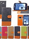 Carcasă Pro Samsung Galaxy S9 Plus / S8 Plus Pouzdro na karty / Nárazuvzdorné / se stojánkem Celý kryt Jednobarevné / Geometriské vzory Pevné Textil pro S9 / S9 Plus / S8 Plus
