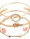 4db Női Réteges Bilincs karkötők - hölgyek, Romantikus Karkötők Ékszerek Arany / Ezüst Kompatibilitás Ajándék Fesztivál