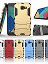 غطاء من أجل Samsung Galaxy A5(2016) ضد الصدمات / مع حامل غطاء خلفي لون سادة قاسي الكمبيوتر الشخصي إلى A5(2016)