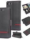 Etui Til Apple iPhone 7 Lommebok / Kortholder / Flipp Bakdeksel Ensfarget Hard PU Leather til iPhone 7