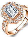 Women\'s Multicolor Classic Ring Alloy European Trendy Romantic Ring Jewelry White / Rose Gold For Daily Date 5 / 6 / 7 / 8 / 9