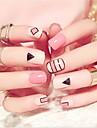 24 pcs Multi Function Materiale ecologice Pietre geometrice Pentru Creative nail art pedichiura si manichiura Zilnic Modă